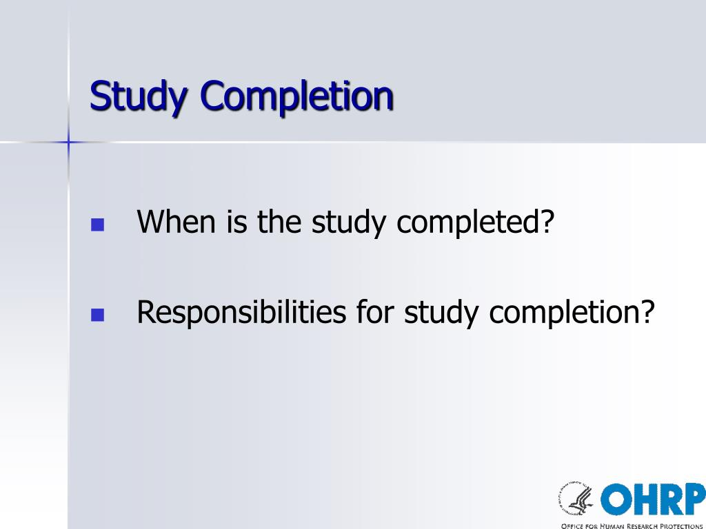 Study Completion