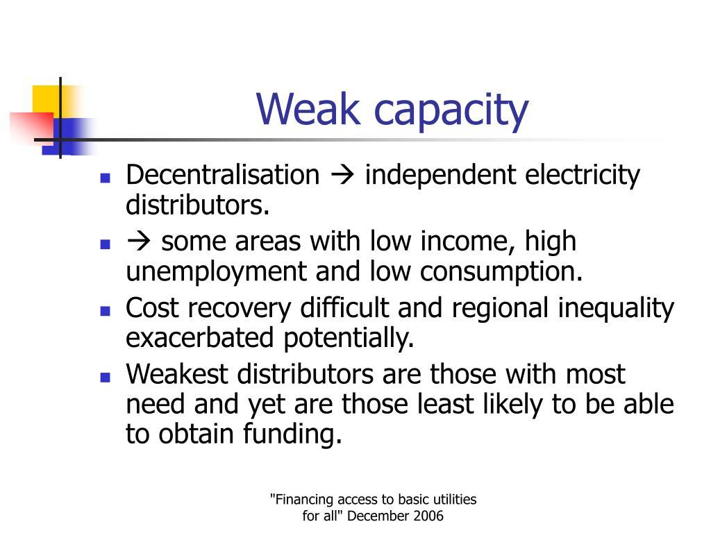 Weak capacity