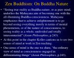 zen buddhism on buddha nature