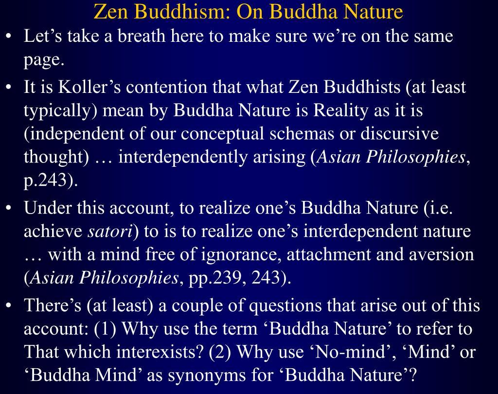 Zen Buddhism: On Buddha Nature