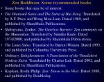 zen buddhism some recommended books