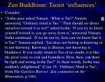 zen buddhism taoist influences16