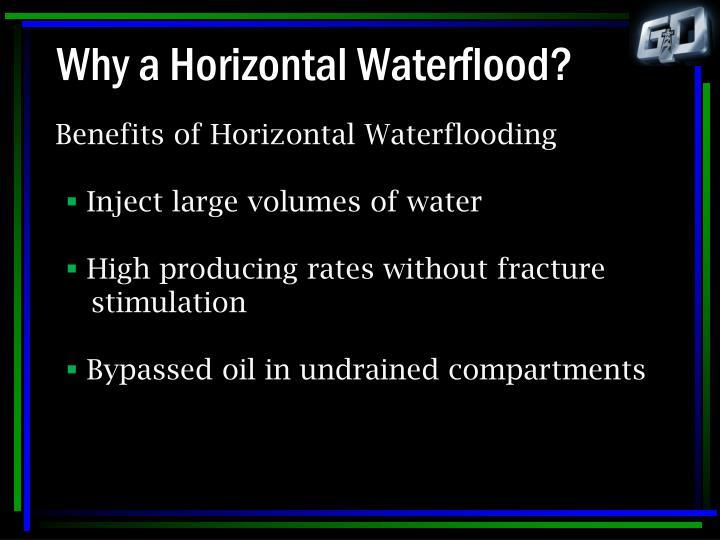 Why a horizontal waterflood3