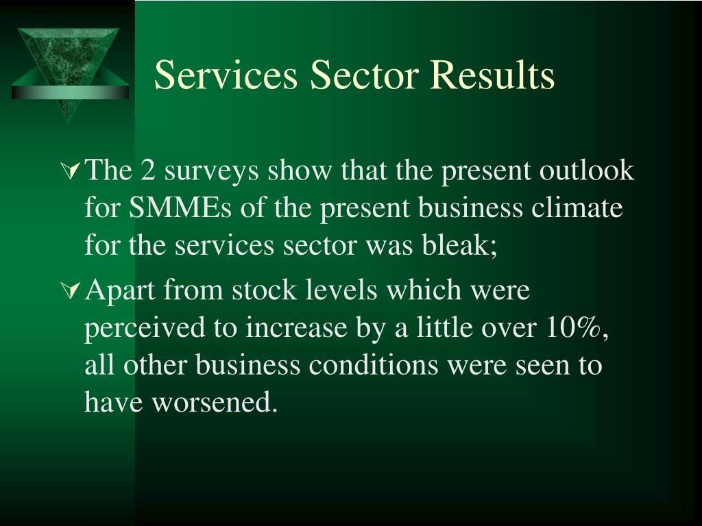 Services Sector Results