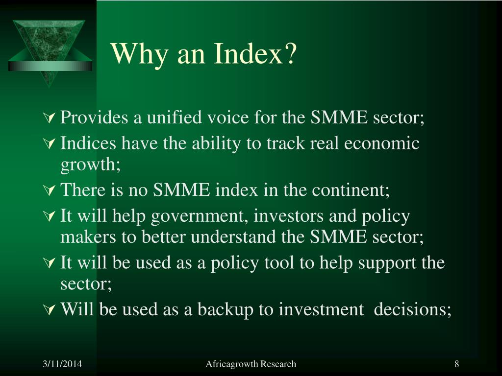 Why an Index?