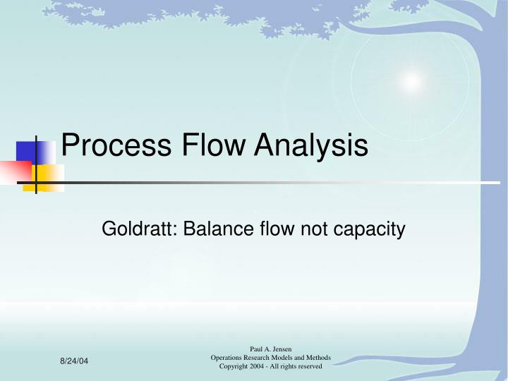 Process flow analysis