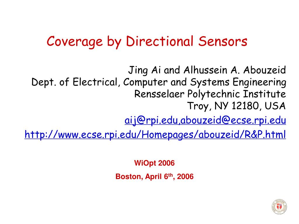 coverage by directional sensors l.
