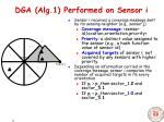 dga alg 1 performed on sensor i