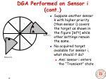 dga performed on sensor i cont10