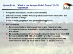 appendix a what is the kenyan polish forum 1 5 objectives