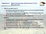 appendix a what is the kenyan polish forum 2 5 why and how