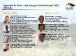 appendix a what is the kenyan polish forum 4 5 officials