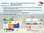 appendix a what is the kenyan polish forum 5 5 strategic partners
