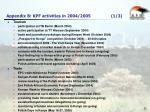appendix b kpf activities in 2004 2005 1 3