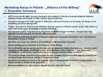 marketing kenya in poland alliance of the willing 1 executive summary