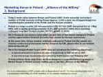 marketing kenya in poland alliance of the willing 2 background