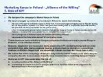 marketing kenya in poland alliance of the willing 5 role of kpf