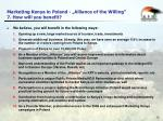 marketing kenya in poland alliance of the willing 7 how will you benefit