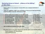 marketing kenya in poland alliance of the willing 9 next steps