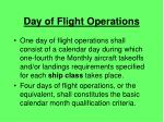 day of flight operations