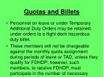 quotas and billets13