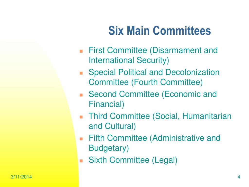 Six Main Committees
