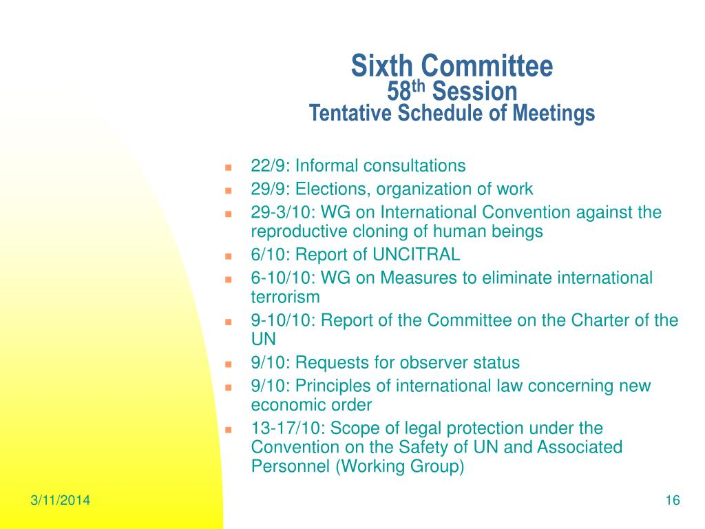 Sixth Committee