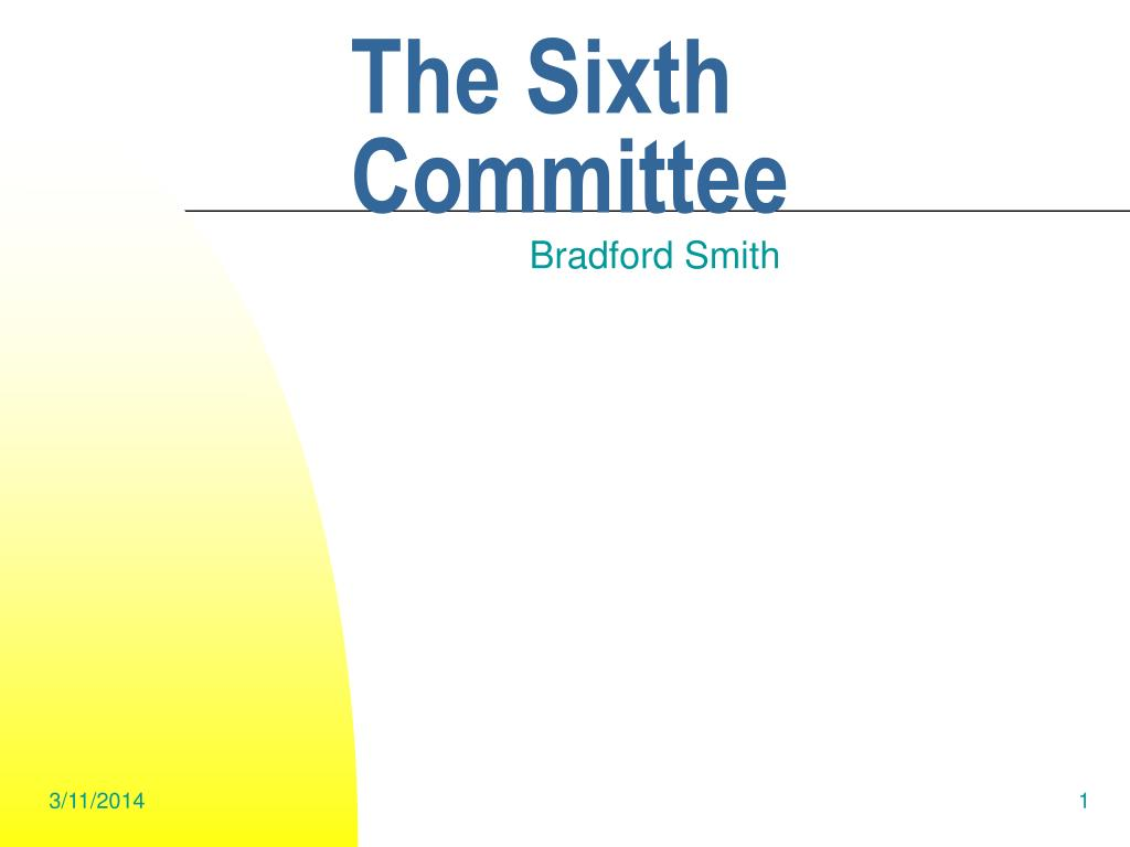 The Sixth Committee