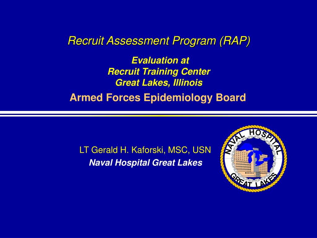recruit assessment program rap evaluation at recruit training center great lakes illinois l.