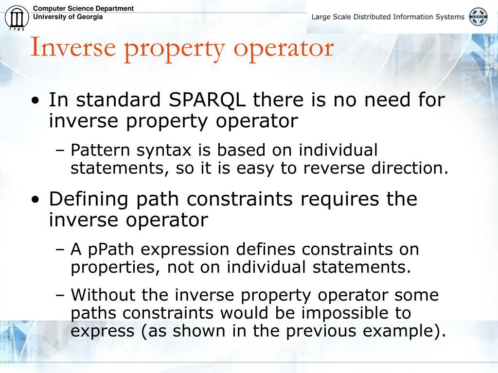 Inverse property operator