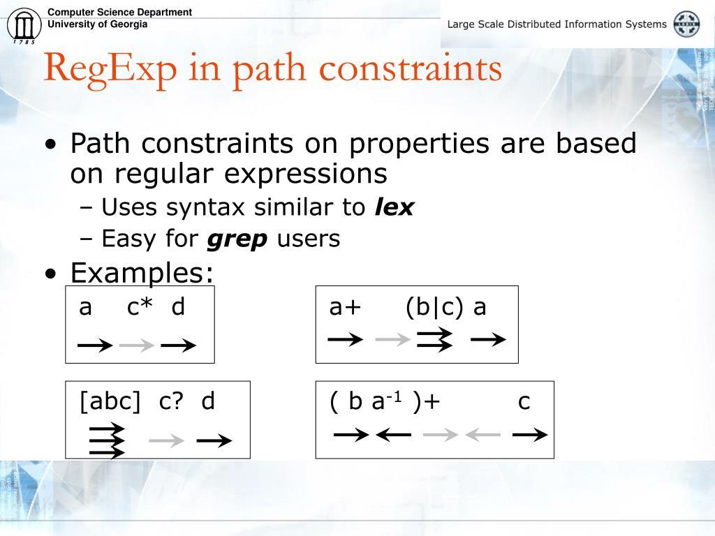 RegExp in path constraints