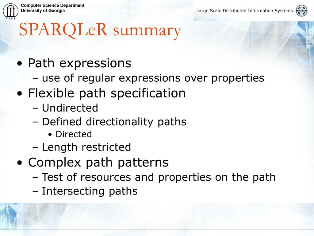 SPARQLeR summary