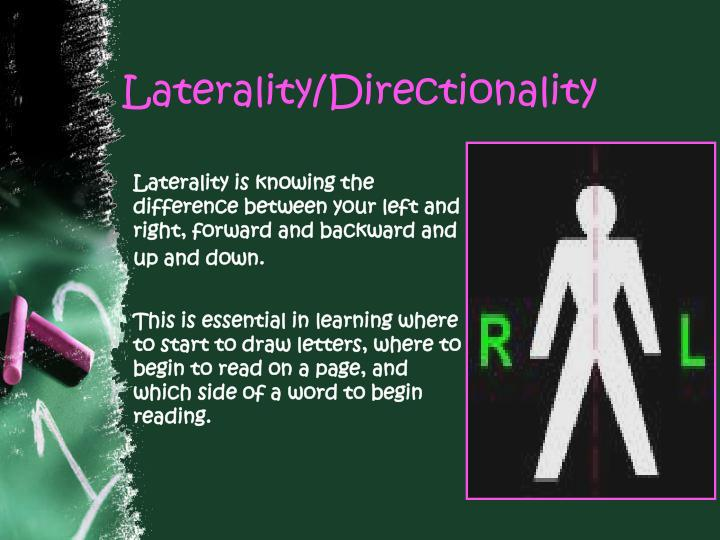 Laterality directionality