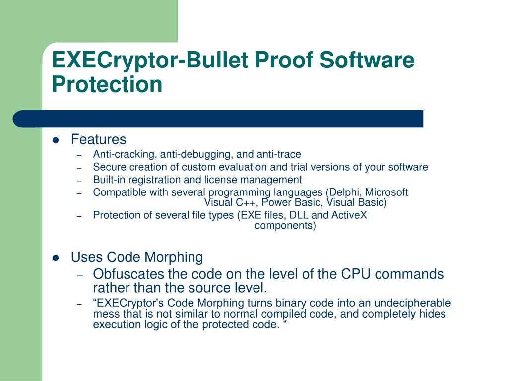 EXECryptor-Bullet Proof Software