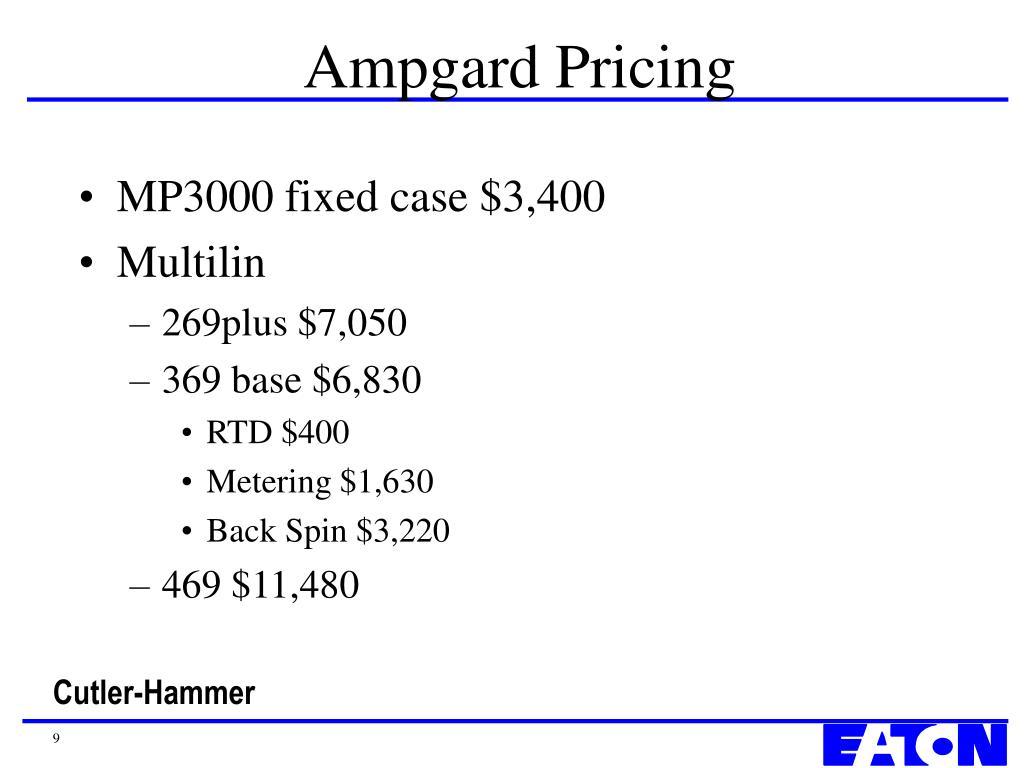 Ampgard Pricing