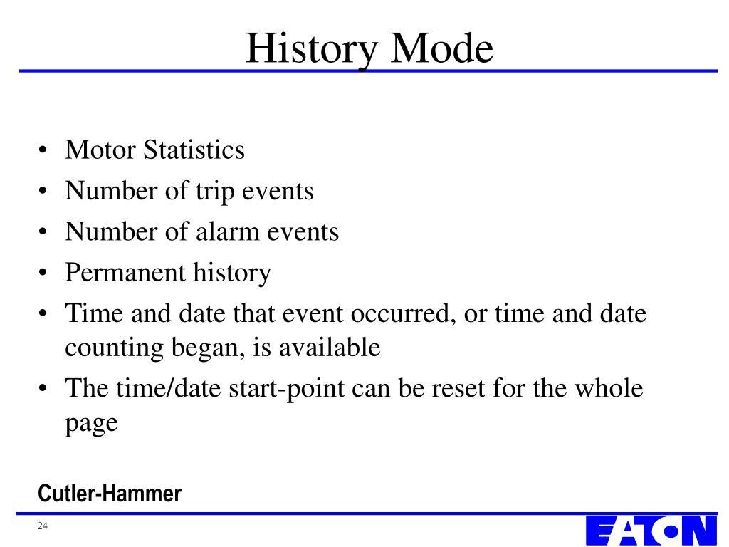 History Mode