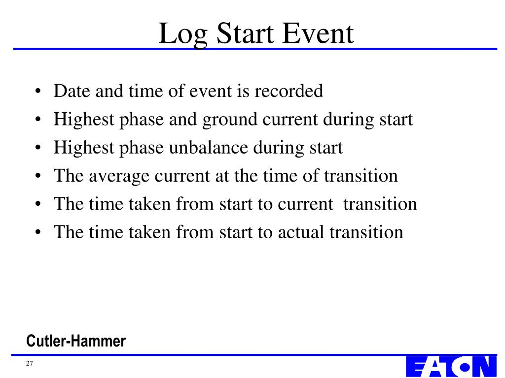 Log Start Event