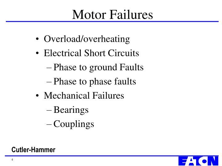 Motor failures