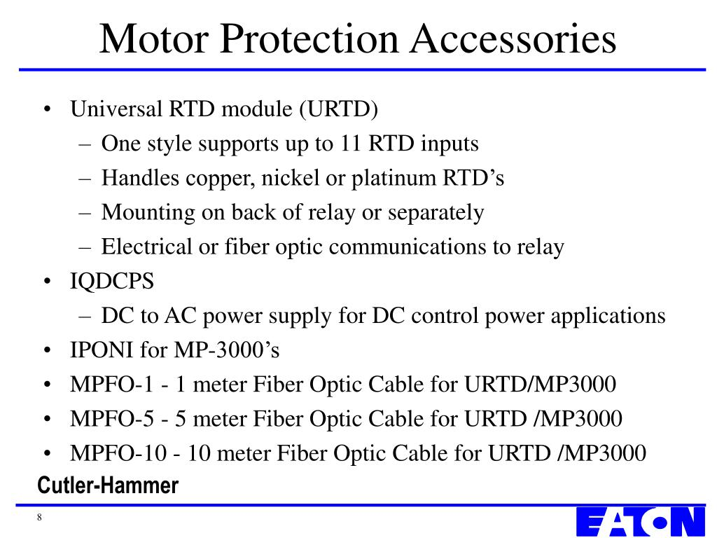 Motor Protection Accessories
