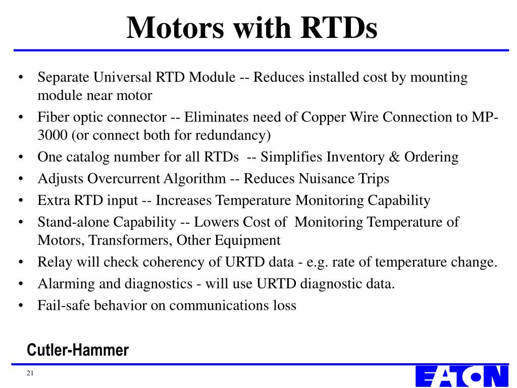Motors with RTDs