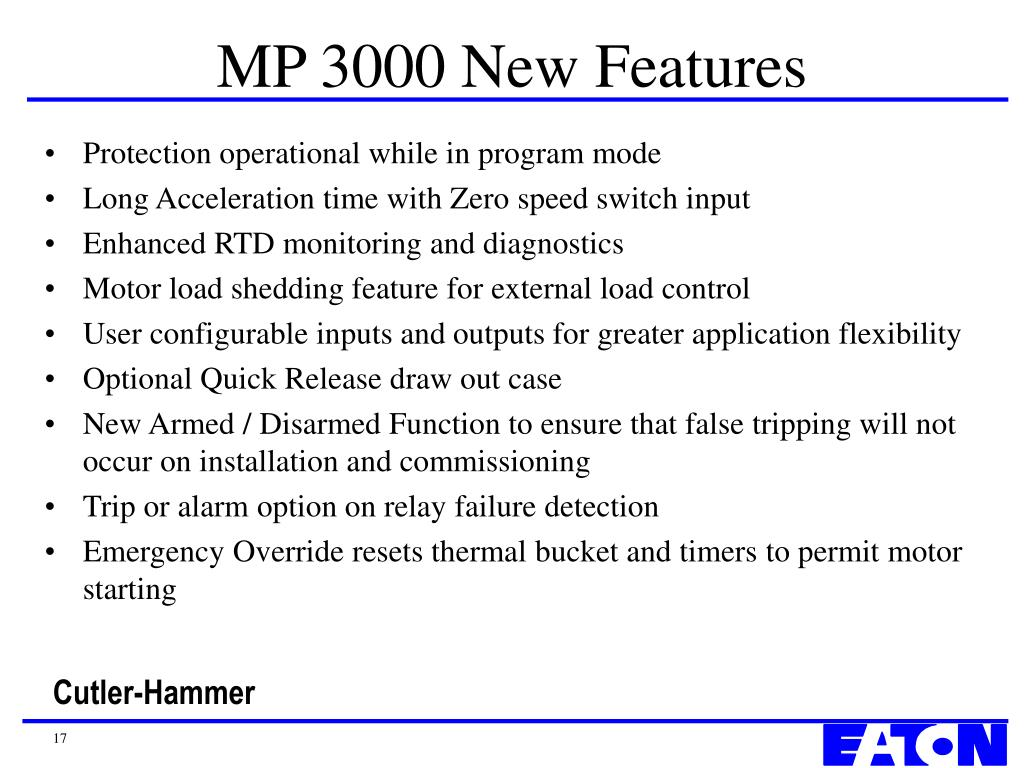 MP 3000 New Features