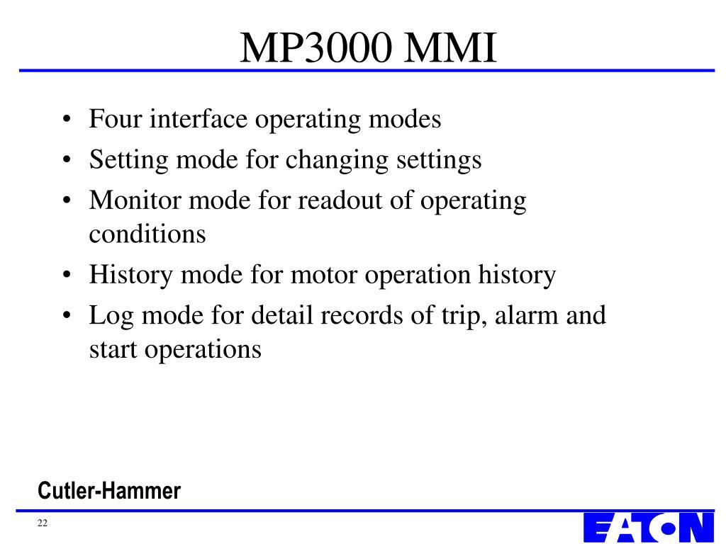MP3000 MMI