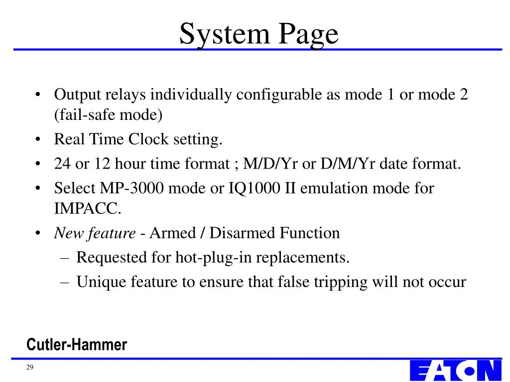 System Page