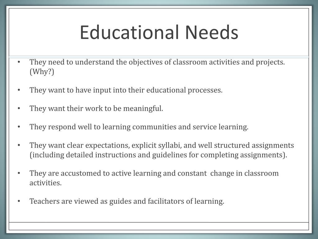 Educational Needs