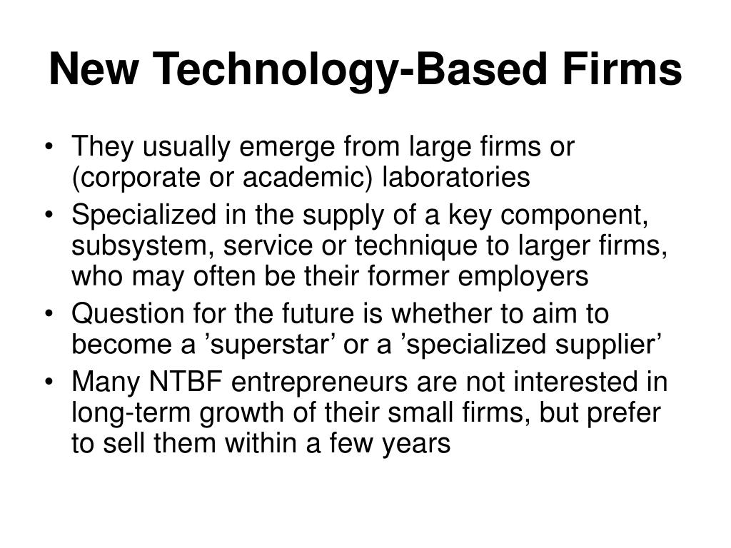 New Technology-Based Firms