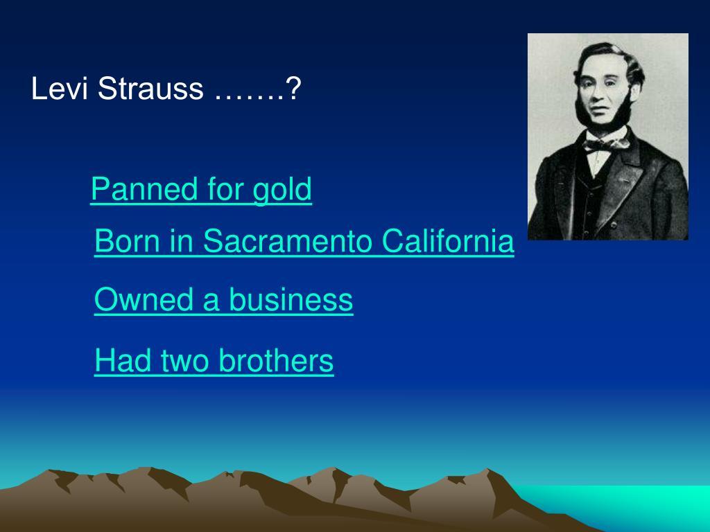 Levi Strauss …….?