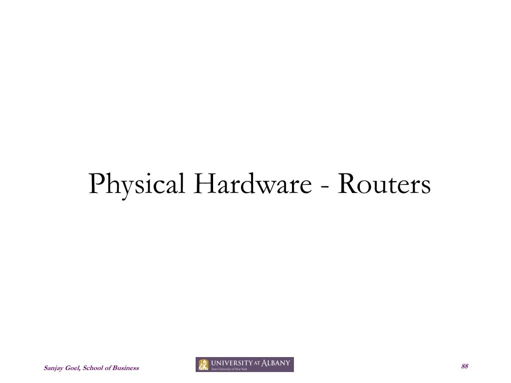 Physical Hardware - Routers