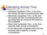 estimating activity time123