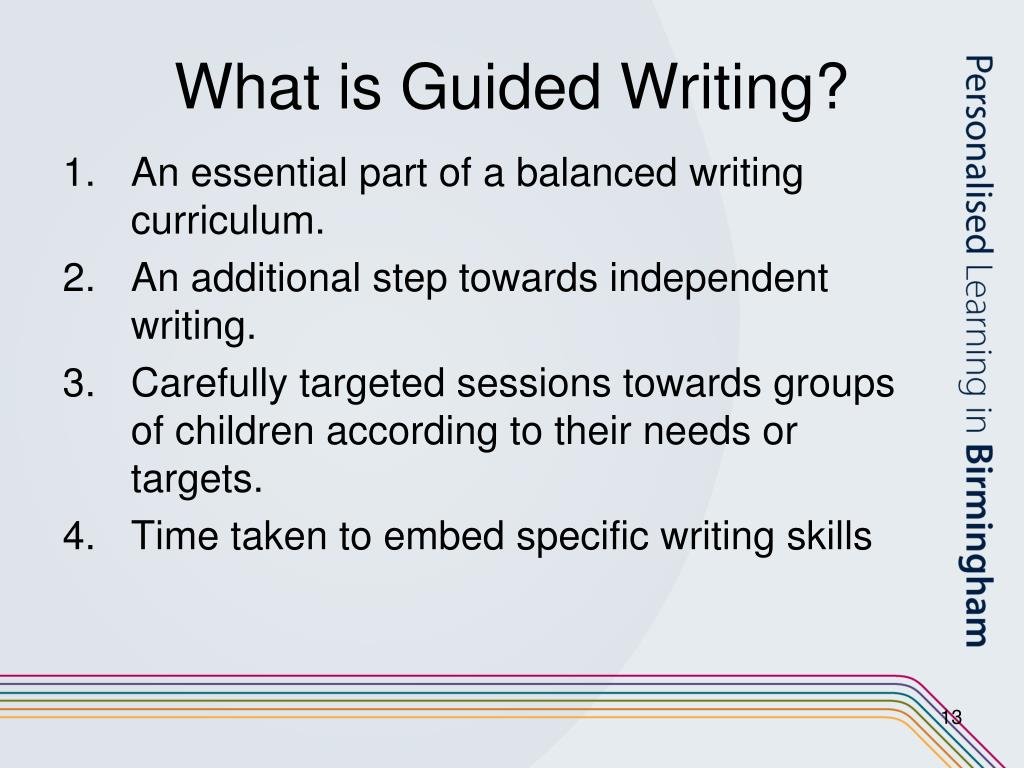 What is Guided Writing?