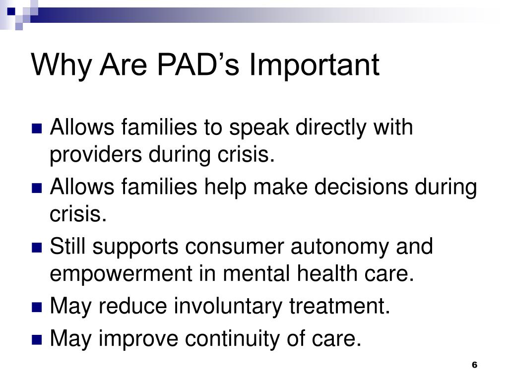 Why Are PAD's Important